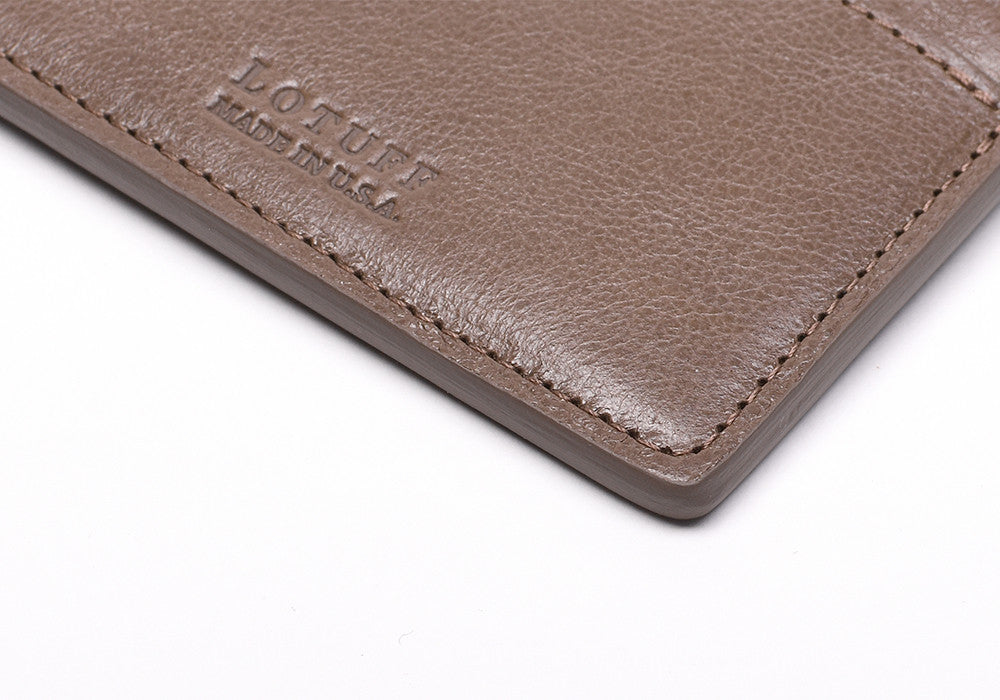 Close Side View of Zipper Credit Card Wallet Clay