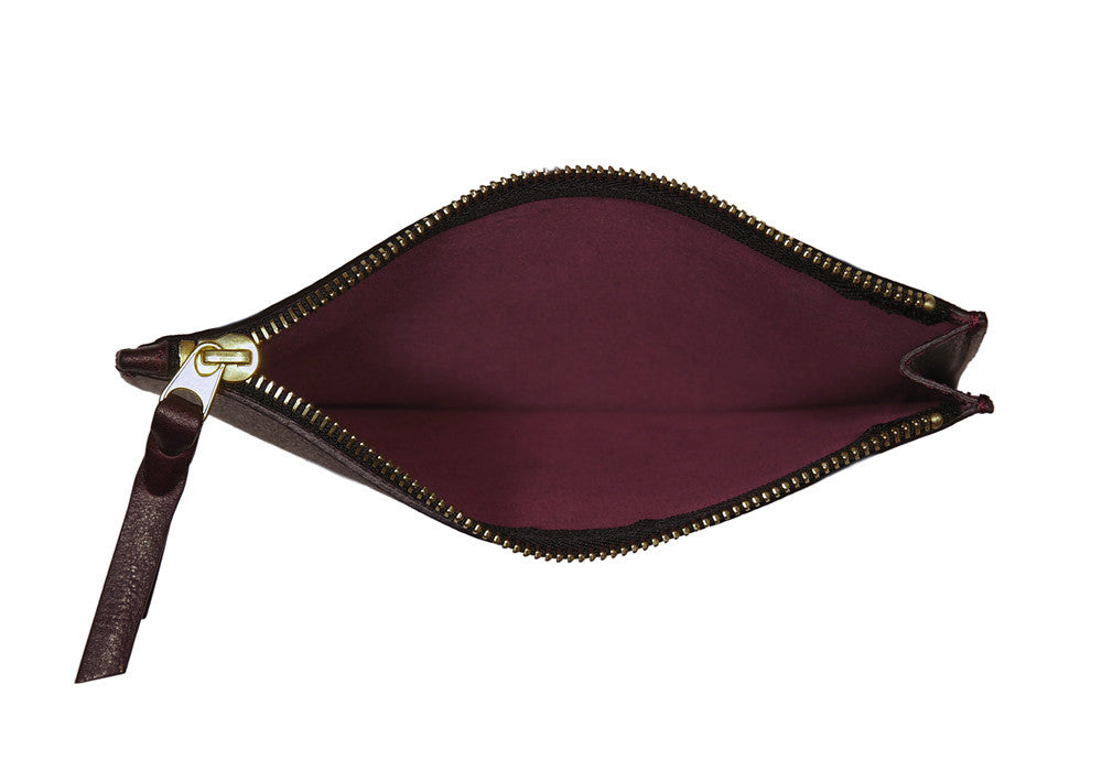 Inner Leather View of Zipper Pouch #7 Cordovan