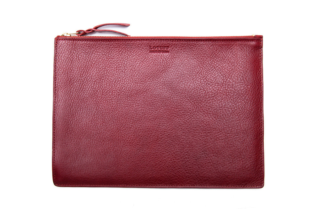 Zipper Macbook Pouch Red