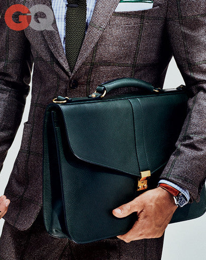 Leather Lock Briefcase Lifestyle