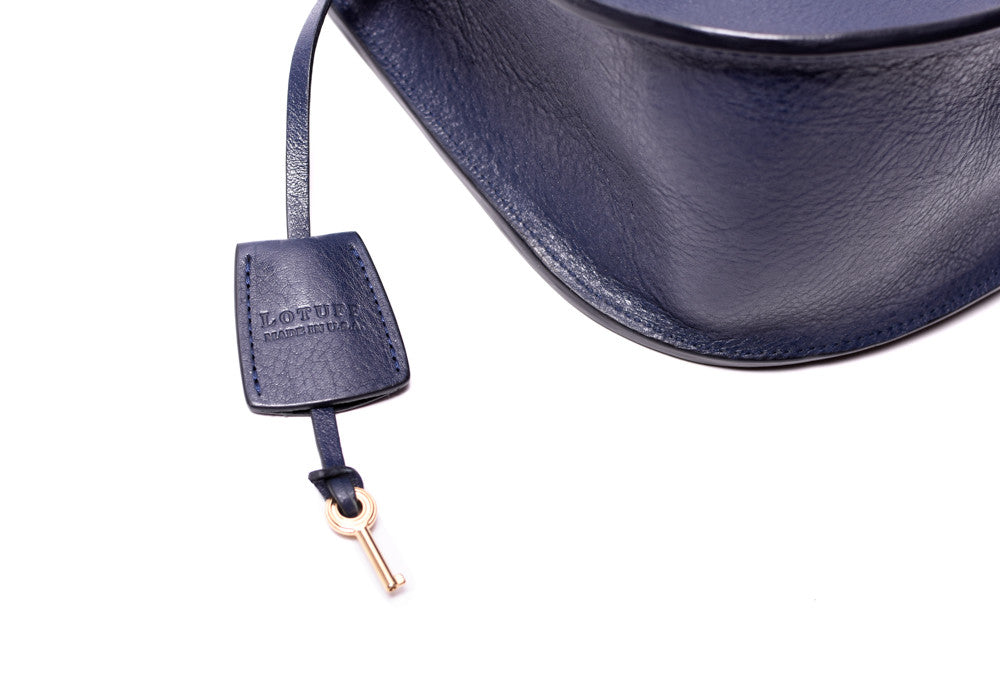 Tassle View of Arc Shoulder Bag Indigo-Electric Blue