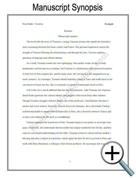 query letter example manuscript synopsis example
