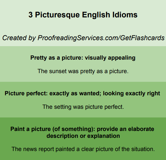 3 Picturesque English Idioms infographic