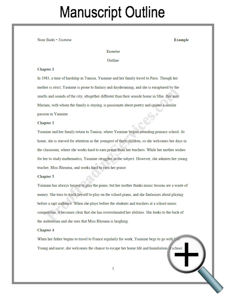Manuscript outline example