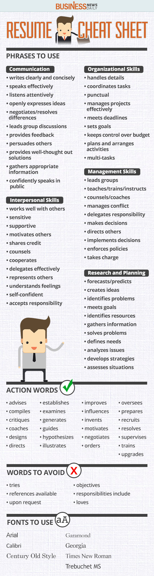 The Ultimate Resume Cheat Sheet