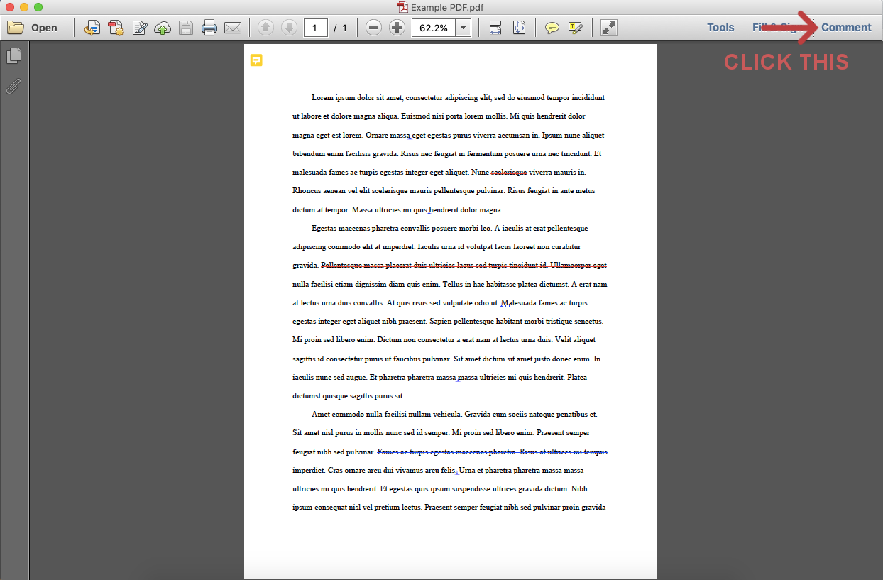 Opening PDF comments on Mac