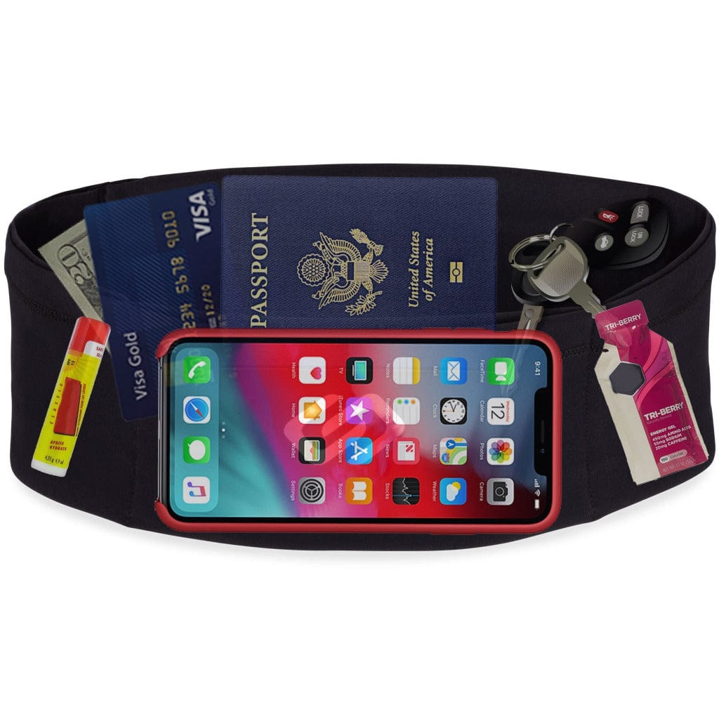 Sporteer VersaSlim Running Belt and Passport/Money Travel Belt for Smartphones