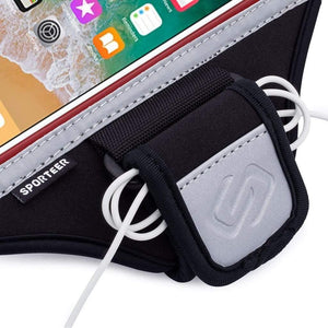 Sporteer iPhone 11 Pro Max Running Armband with Earphone Cord Holder