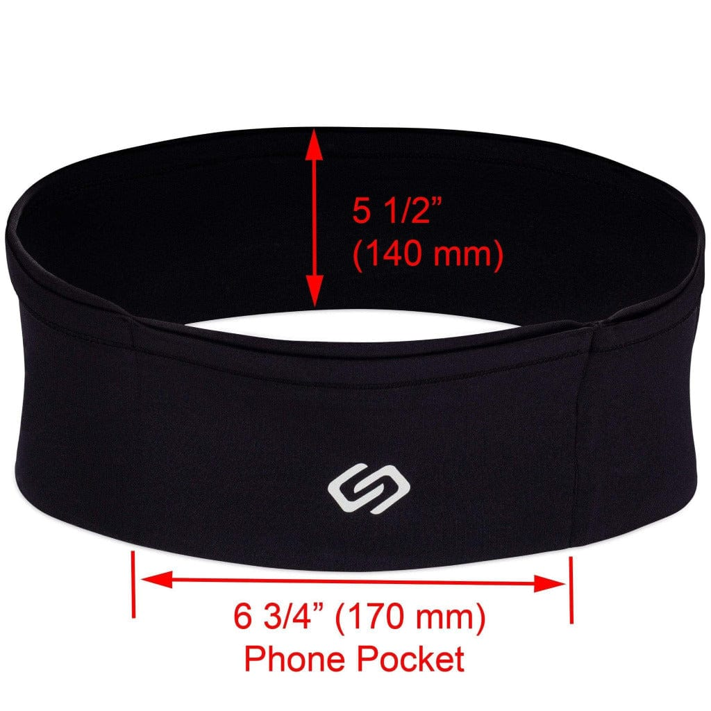 Sporteer  Workout Waist Band - High Capacity - Lycra