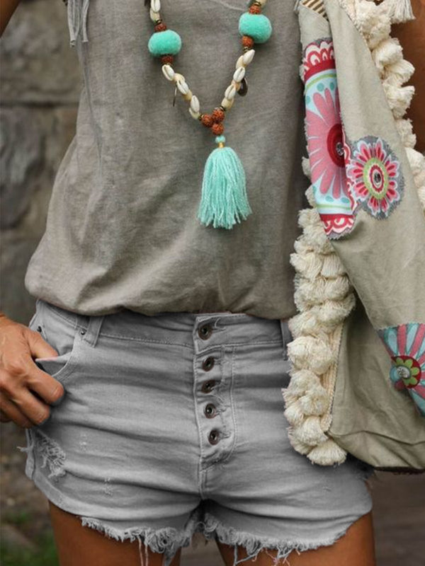 Boho Denim Pants
