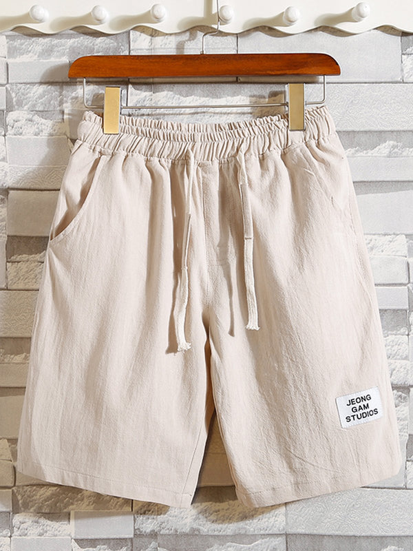 Casual Cotton Plain Pants