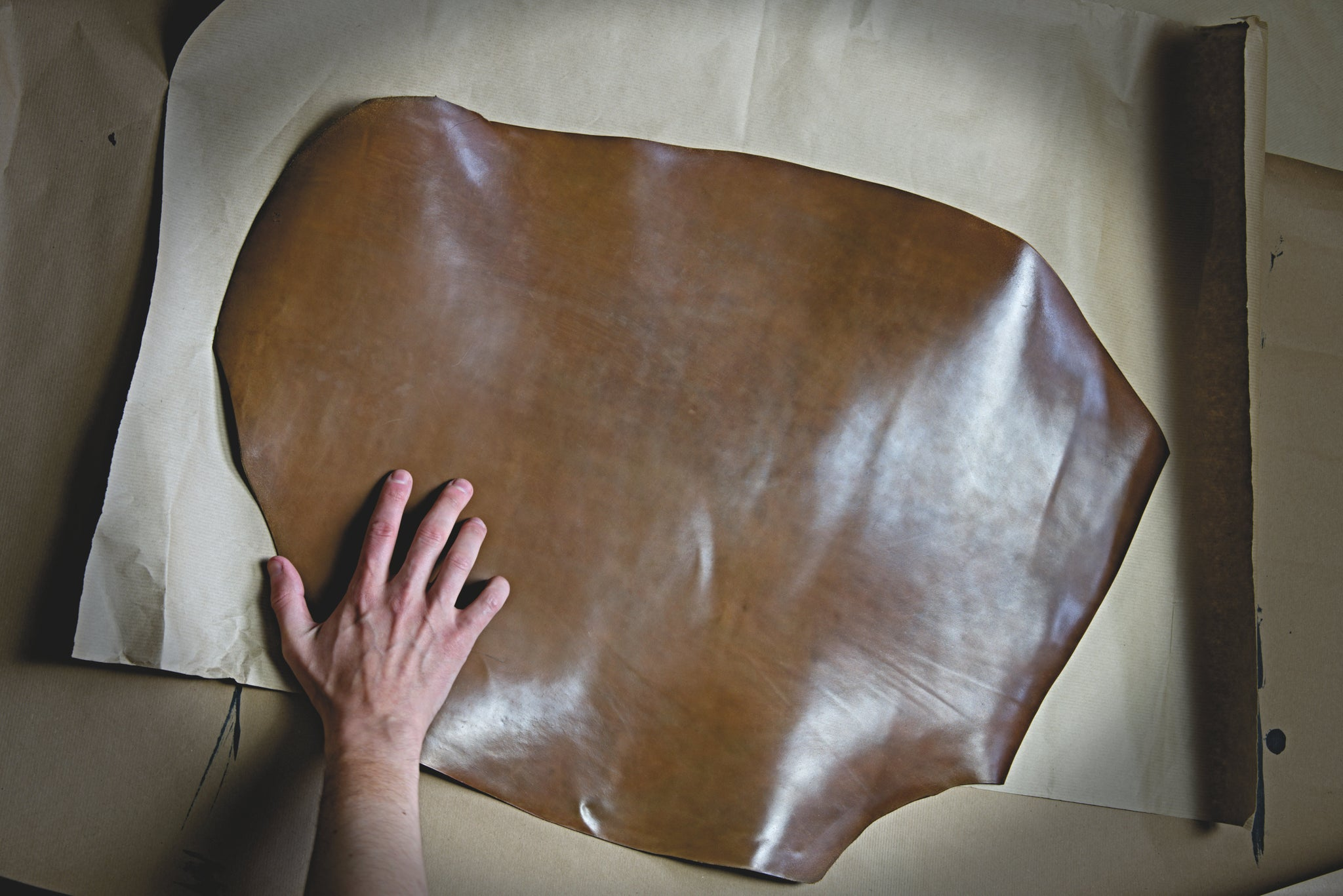 Giant 3sq.ft. Horween® Shell Cordovan in Bourbon.