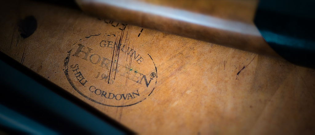 The Genuine Horween® Shell Cordovan ink stamp.