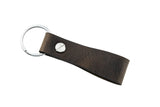 Fingerspin Key Fob in Horween® Derby Leather - Wildfire Ash