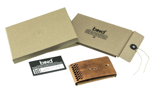 Rally Fold Minimalist Wallet in Horween® Derby Leather - Burnt Sand