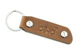 Triplo Key Fob in Tempesti® Leather of Tuscany, Italy - Cappuccino