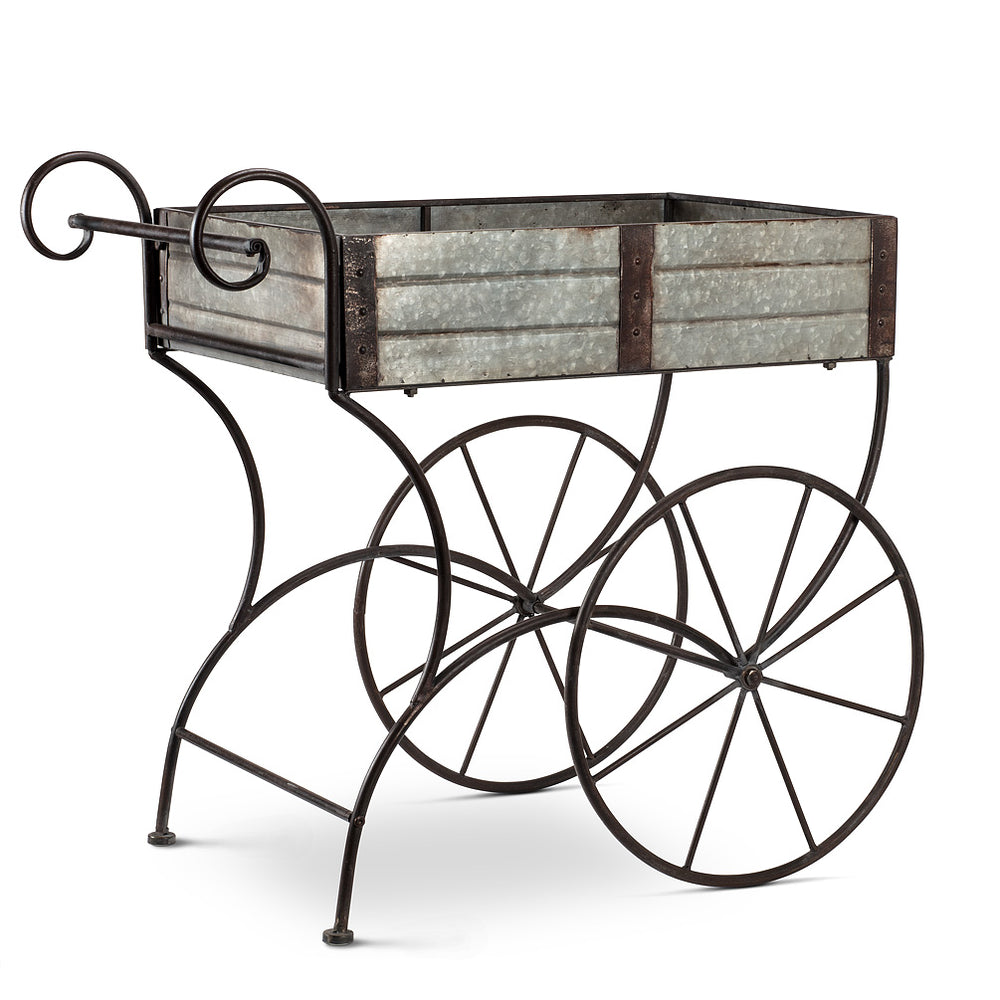Two Wheel Flower Cart