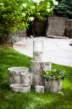 Birch Look Planter - Low