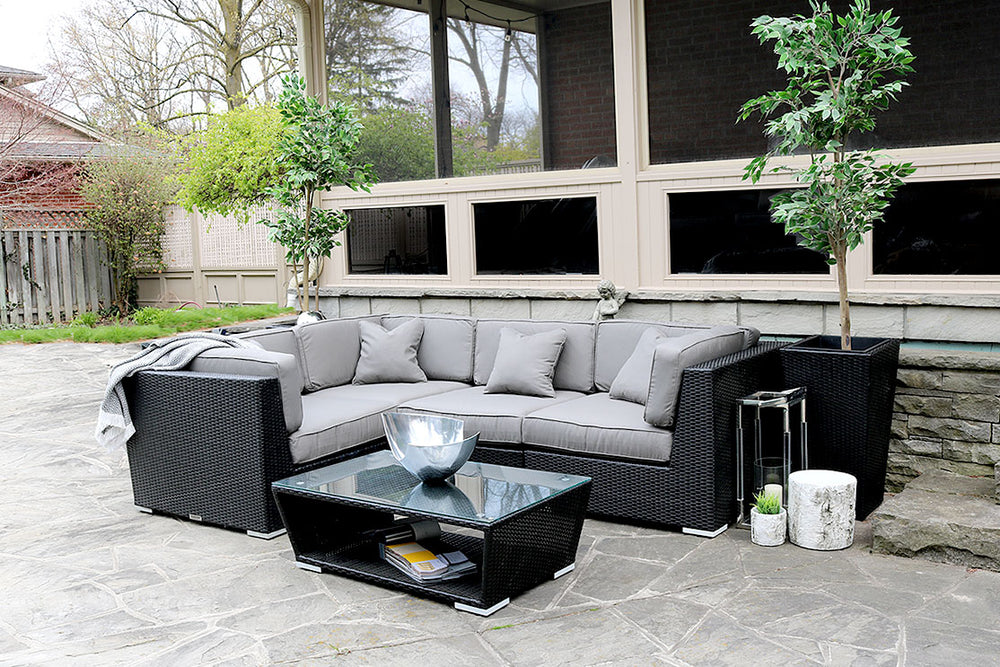 Load image into Gallery viewer, Patio Furniture Sectional WickerPark Lovett Classique