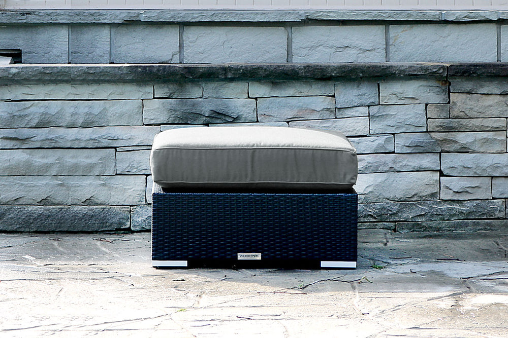 Patio Furniture Ottoman WickerPark Lovett Sunbrella Fabric Ottoman