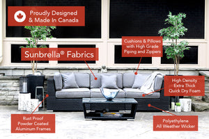 Load image into Gallery viewer, Patio Furniture Sectional WickerPark Lovett Love Sofa