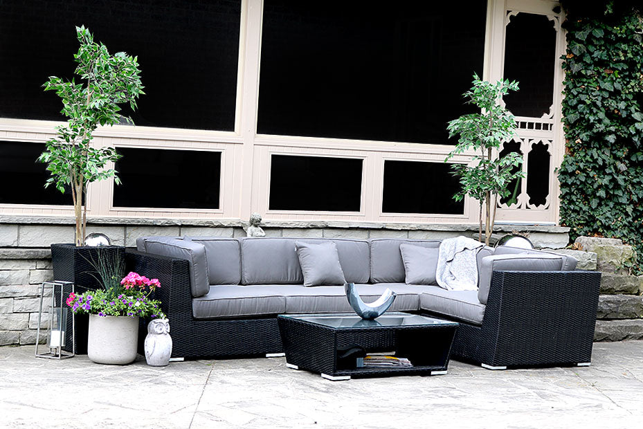Outdoor Patio Furniture Sectional with Sunbrella | Lovett ...