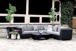 Load image into Gallery viewer, Patio Furniture Sectional WickerPark Lovett Vente Plus