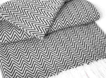 Sunbrella® Indoor/Outdoor Throw Blanket | Black / Natural Zig Zag