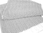 Sunbrella® Indoor/Outdoor Throw Blanket | Granite / Natural Zig Zag
