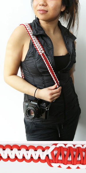 Strap550- Canadian Red and White camera strap