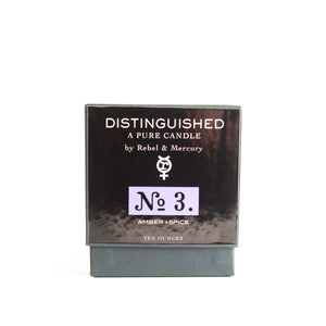 Amber & Spice - Distinguished No. 3 - Botanical Candle