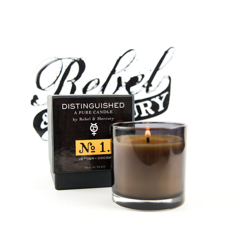 DIstinguished #1 Botanical Candle with Vetiver & Cocoa