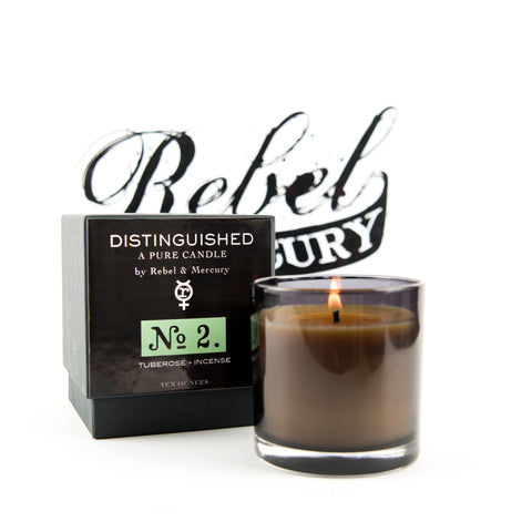 Distinguished #2 Botanical Candle with Tuberose & Incense