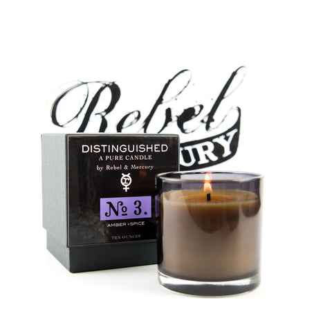 Distinguished #3 Botanical Candle with Amber & Spice