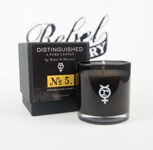 Mimosa & Honey - Distinguished No. 5 - Botanical Candle