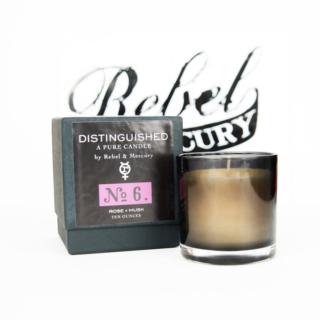 Distinguished #6 Botanical Candle with Rose & Musk