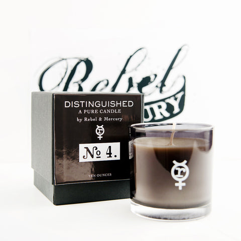 Distinguished #4 Botanical Candle with Smoke & Tobacco