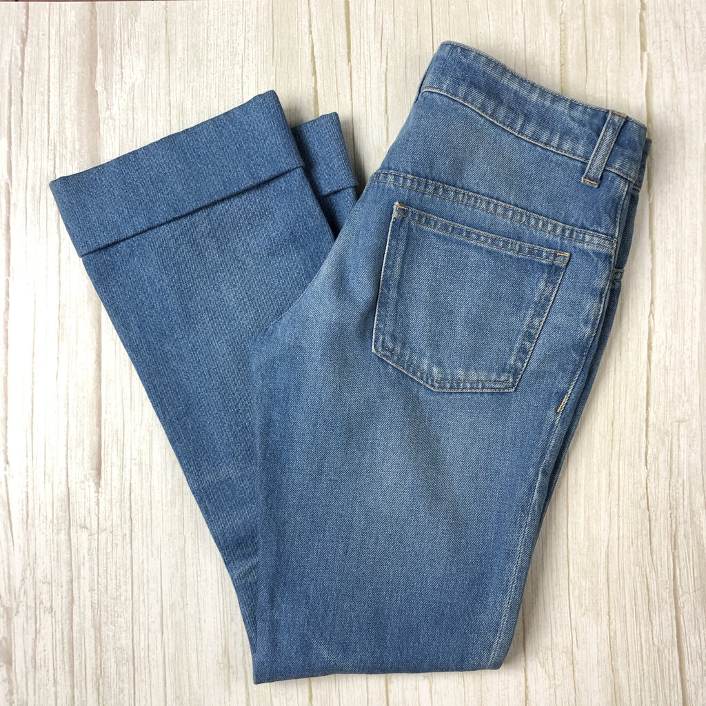Authentic Gucci Cropped 'Skinny Flare' Cuffed Jeans