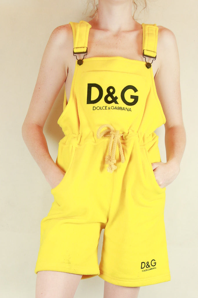 Authentic Yellow D&G Winter Fleece Overalls