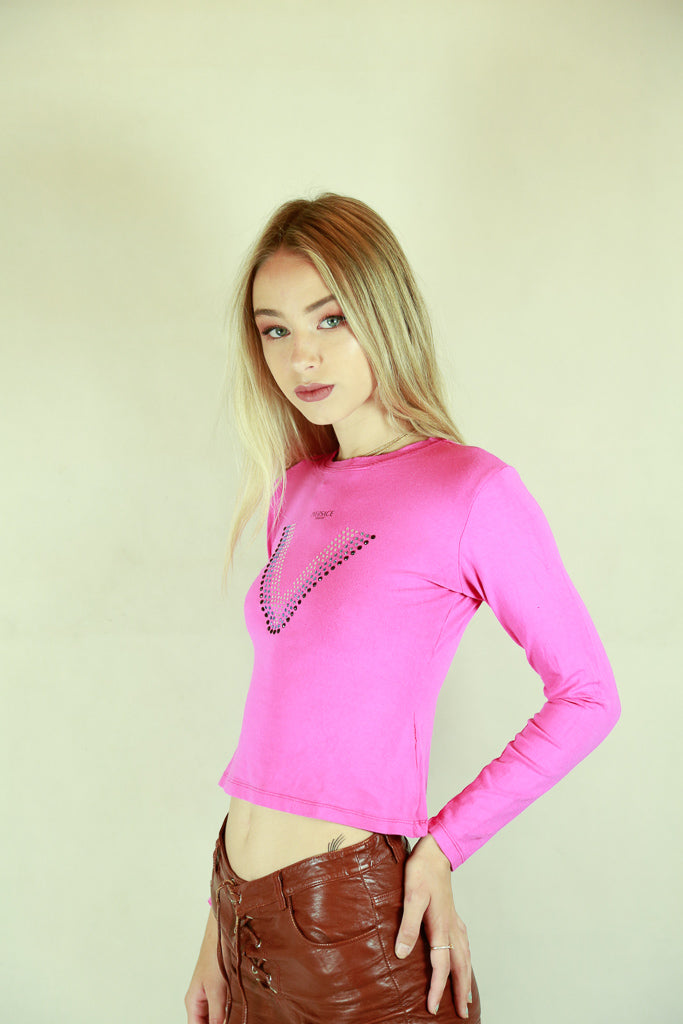 Versace Sport Hot Pink Diamonte Top