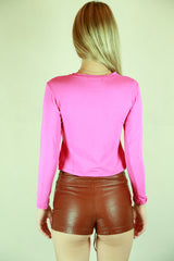 Authentic Versace Sport Hot Pink Diamonte Top