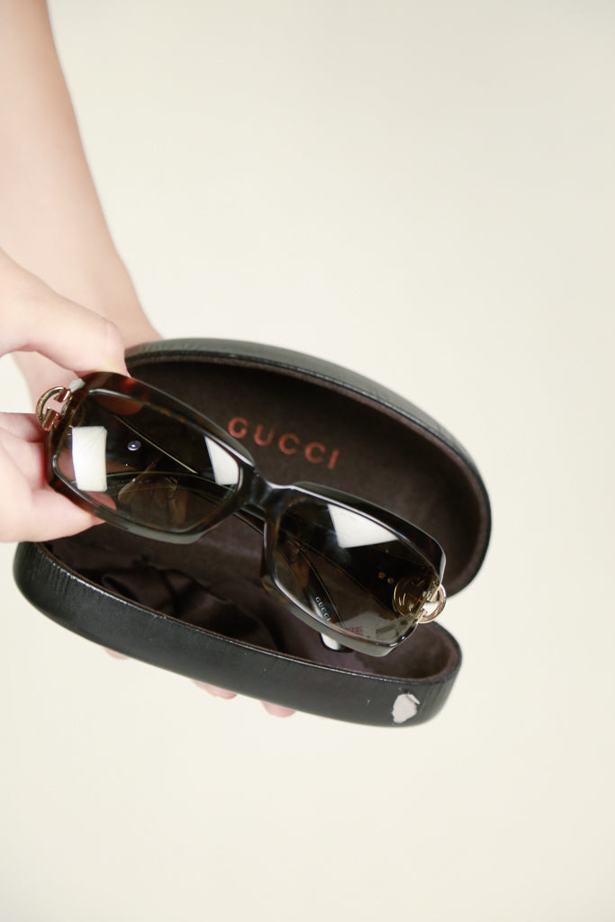 Authentic Gucci Tortoiseshell Logo Sunglasses