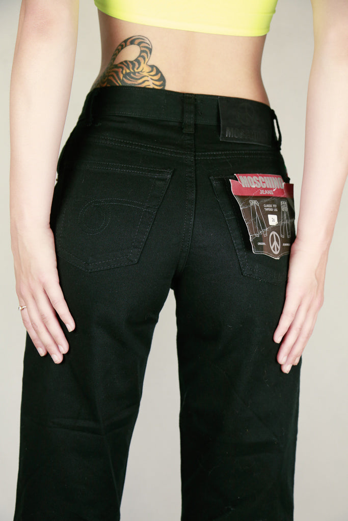 Authentic New Moschino Black Cropped Jeans