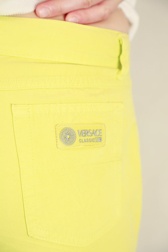 Authentic Versace Classic V2 Lime Green Jeans