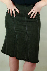Authentic Sonia Rykiel Denim Panel Skirt