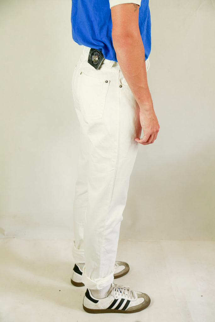 Authentic Vintage Versace White Jeans