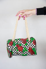 Betsey Johnson Betseyville Checkered Rose Bag