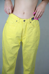 Authentic Vintage Versace Yellow High Waisted Jeans