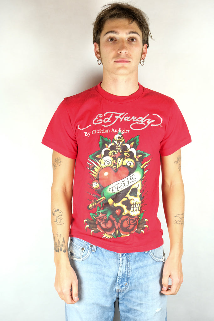 Authentic Ed Hardy Printed Trad Tattoo T-Shirt