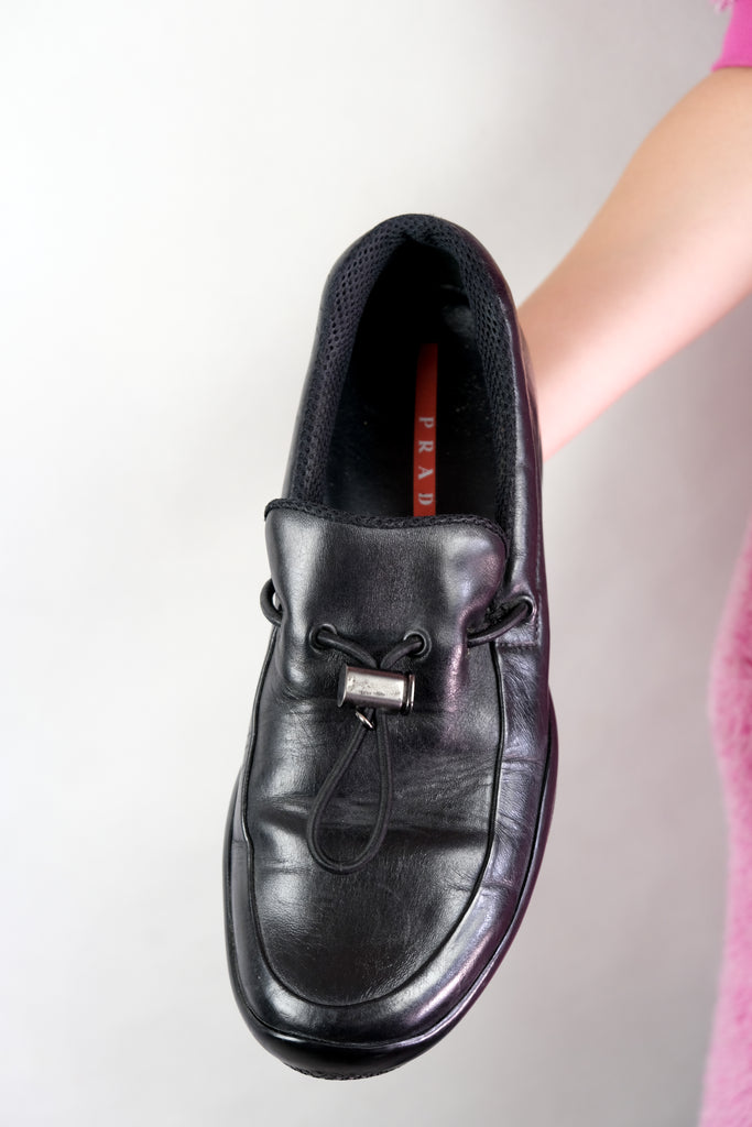 Authentic Prada Mens Leather Loafers